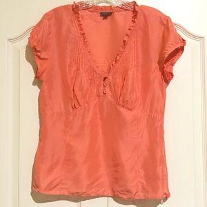 Ann Taylor Silk Pullover Blouse Size 8